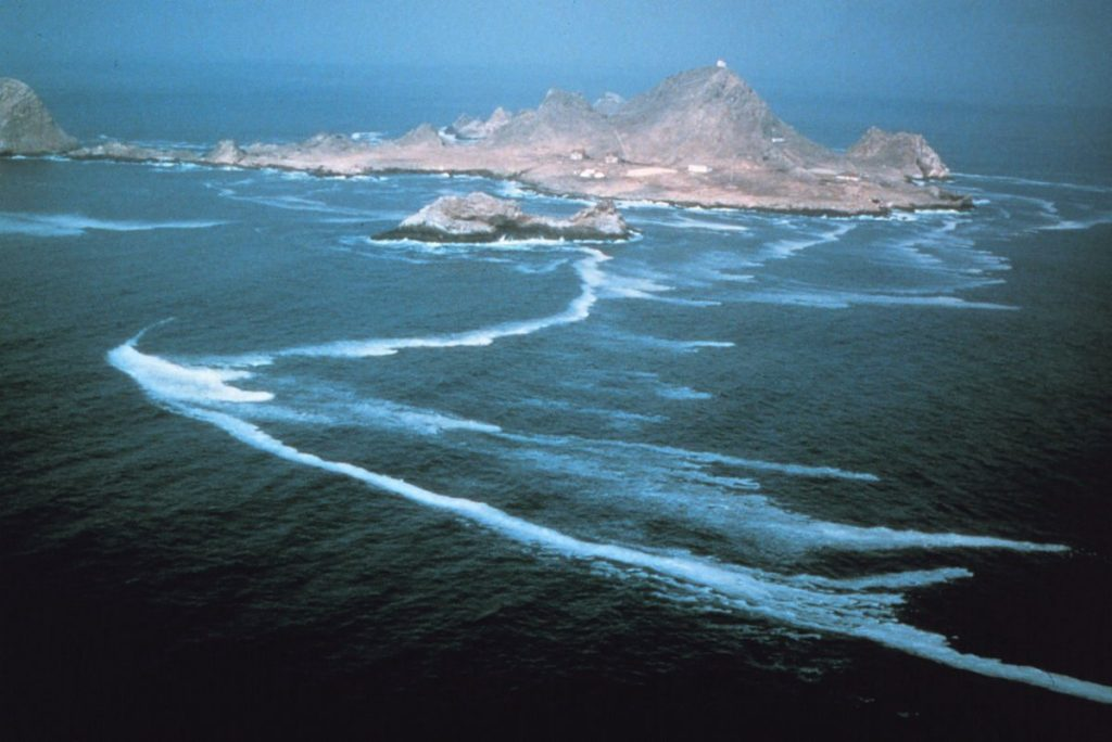Aerial view of Southeast Farallon Island