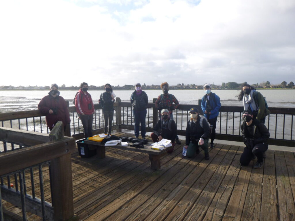 Outdoor Educators Institute and Golden Gate Audubon volunteers at Elsie Roemer Bird Sanctuary