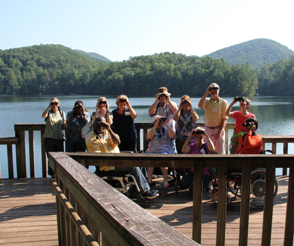Accessible birding at Shepherd Center in Georgia