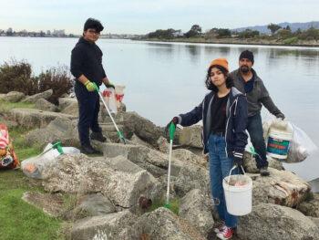 Volunteers at MLK Shoreline