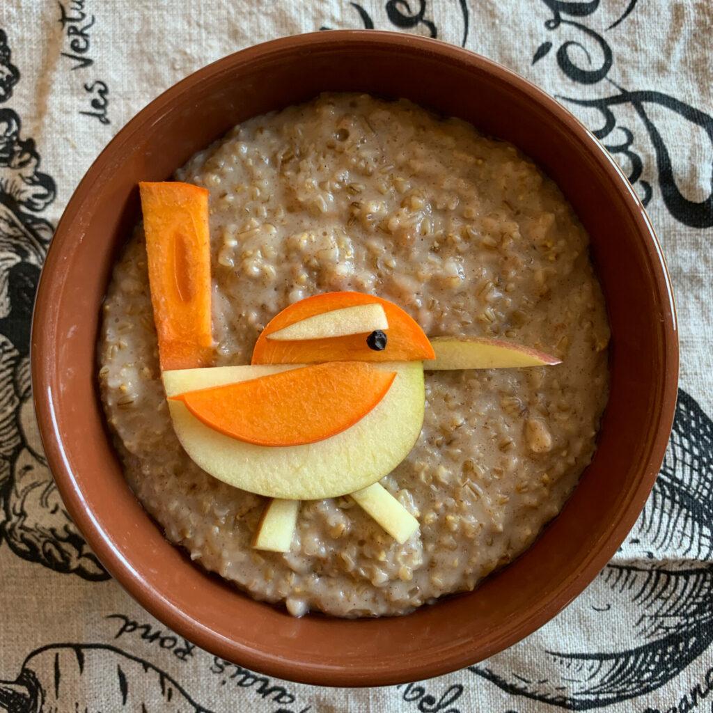 Bewick's Wren in oatmeal by Alan Krakauer