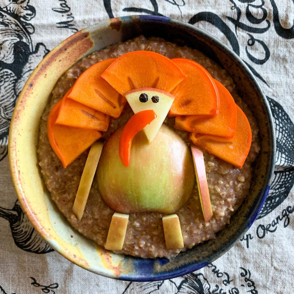 Wild Turkey in oatmeal by Alan Krakauer