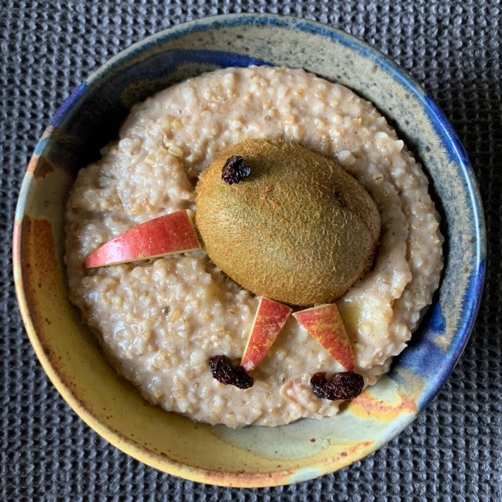 Breakfast kiwi bird