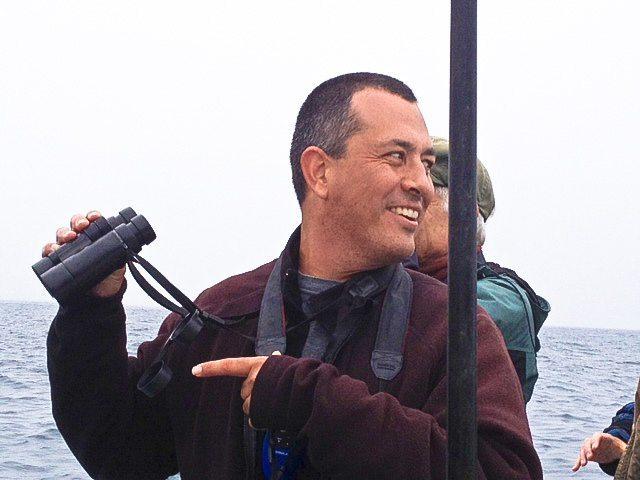 Alvaro Jaramillo on boat / Photo by Gail Stevens