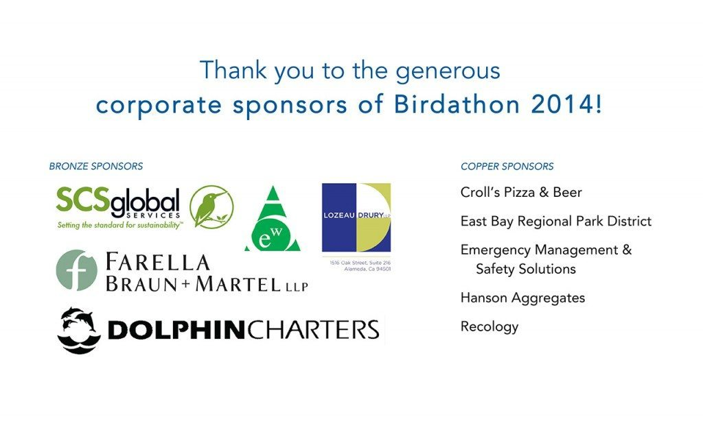 Microsoft Word - Birdathon 2014 Corporate Sponsors Banner.docx