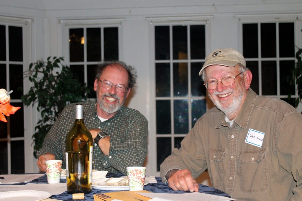 Bob with Dave Quady at the 2014 CBC compilation dinner / Photo by Ilana DeBare