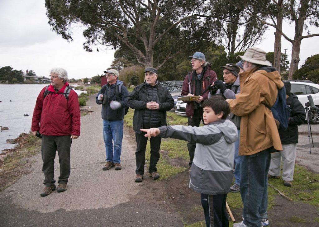 Berkeley waterfront count team, by Nancy Johnston