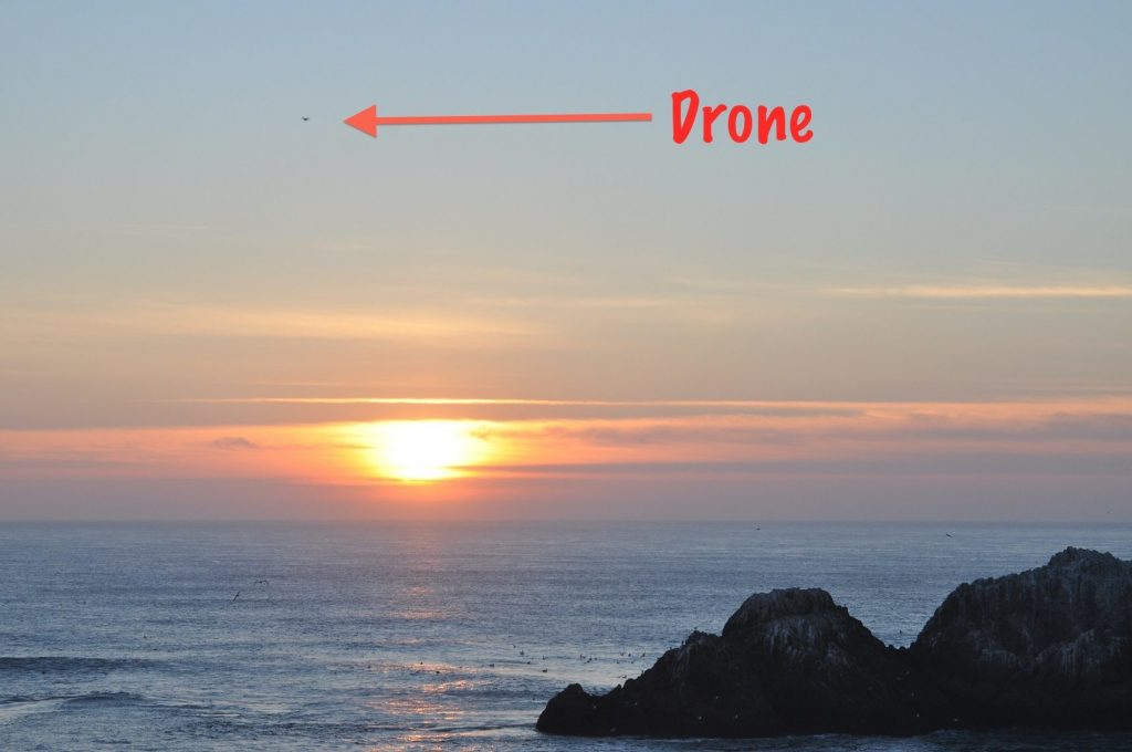 Drone over Seal Rocks in January 2015 / Photo by Alan Hopkins