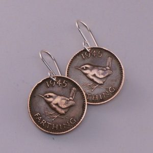 Wren farthing earrings