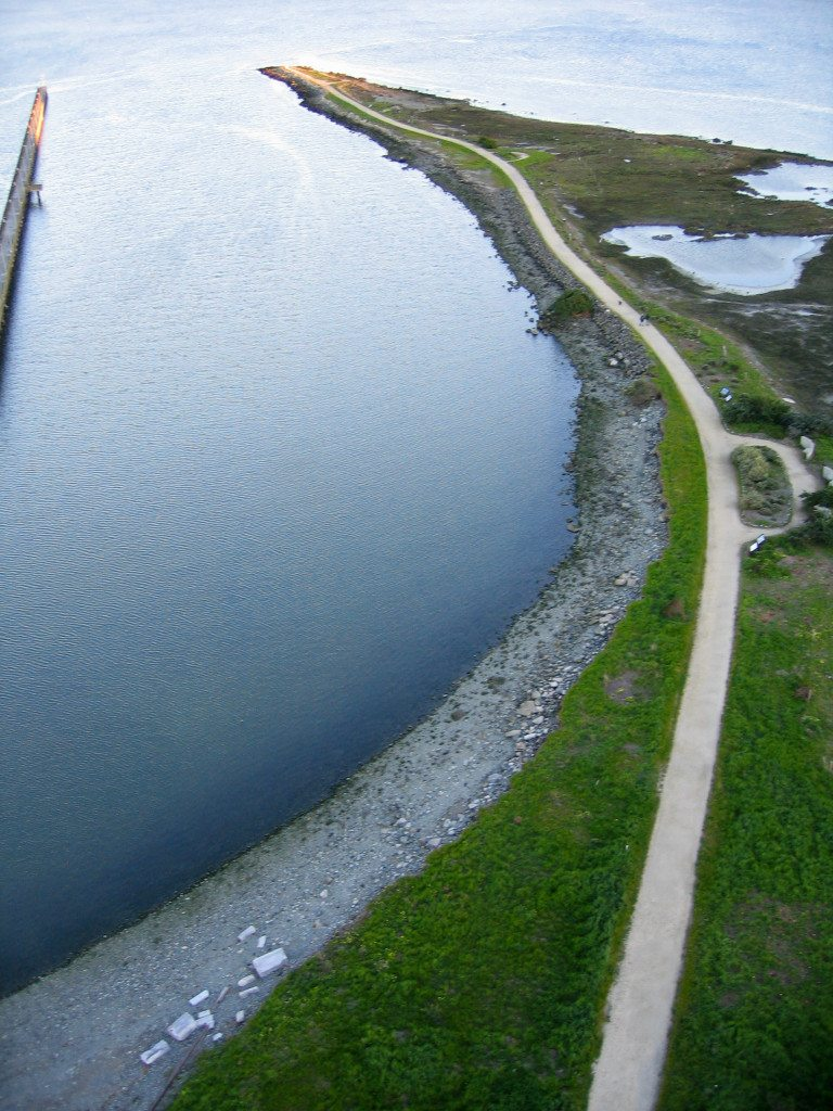 View of Heron's Head Park from a kite camera / Photo by Charles Benton