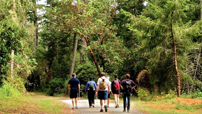 Hikers in the watershed / Photo by Emma Leonard, Bay Nature