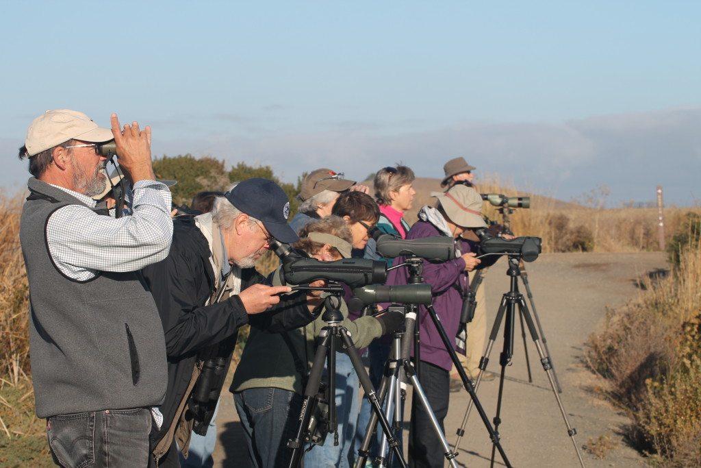 Bob leads a class field trip to Coyote Hills in 2013, by Ilana DeBare