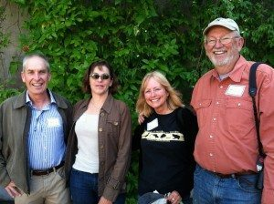 Best Bird winner Bruce Mast with Juliet Cox, Denise Wight and Dave Quady. Photo by Ilana DeBare.