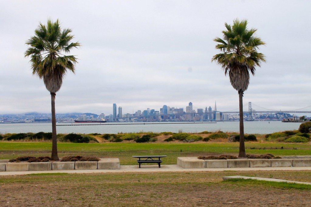 Lots of benches and picnic tables, plus great views of SF / Photo by Ilana DEBare