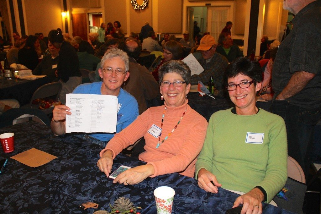 Tallying totals at the 2014 Oakland count dinner / Photo by Ilana DeBare