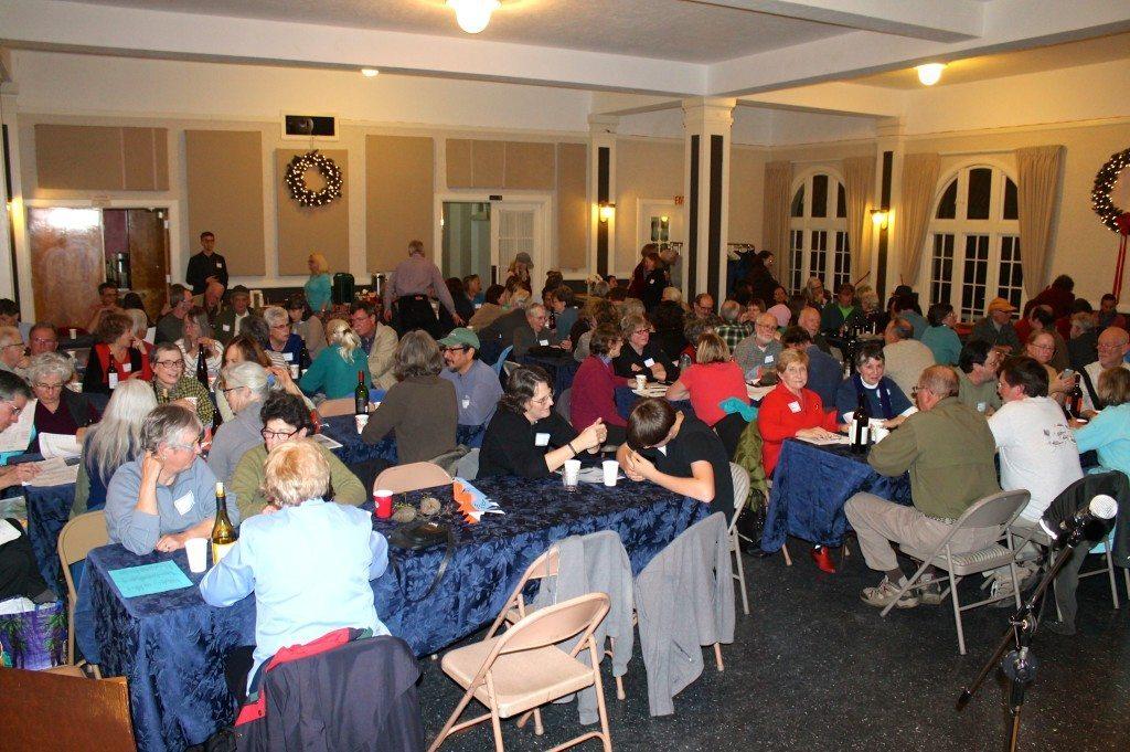 The festive CBC dinner / Photo by Ilana DeBare