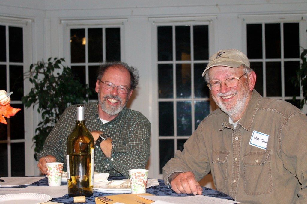 Count organizers Bob Lewis and Dave Quady at the dinner / Photo by Ilana DeBare