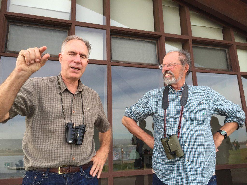 Bob (right) with fellow GGAS board member Jay Pierrepont / Photo by Ilana DeBare
