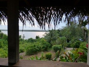 View from cabin porch at Lamanai Lodge / Photo by Carol Lombardi