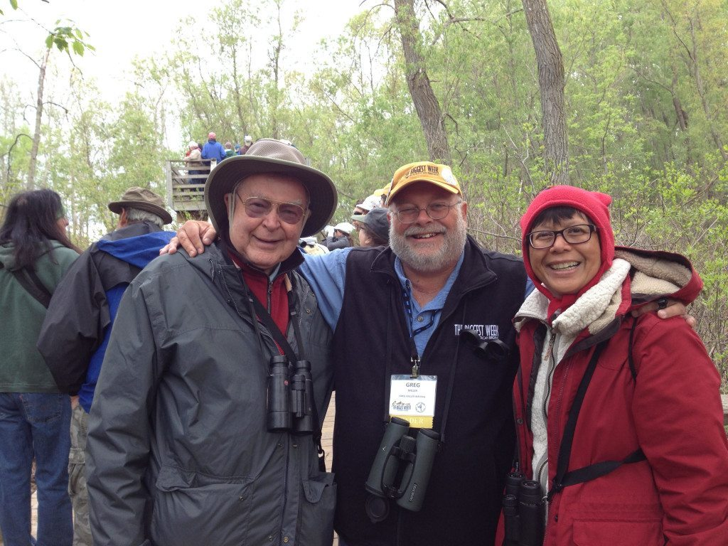 George and Lani with Greg Miller, one of the participants in the famous 1998 Big Year