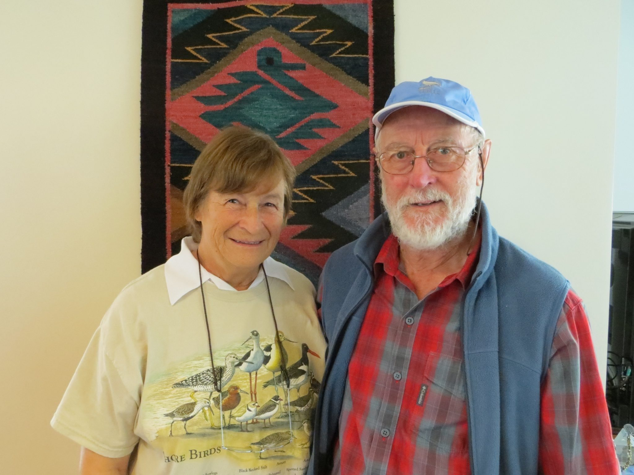 """Helen and Bill LIndqvist, donors of the """"Audi-bon"""" / Photo by Ilana DeBare"""