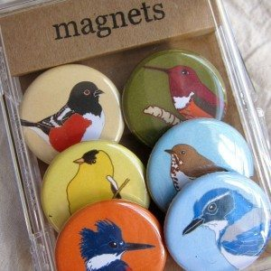 Bird magnets by Bess Petty