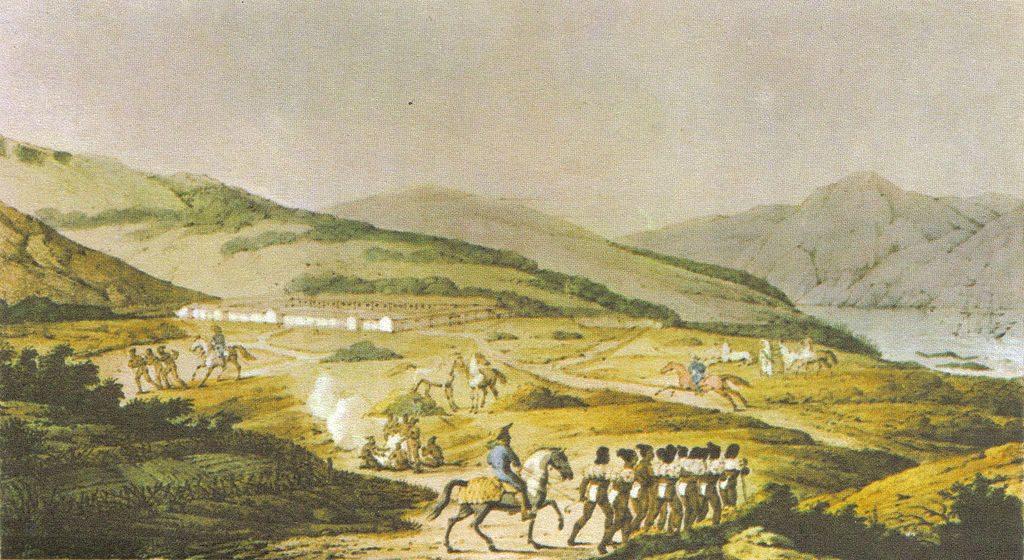 The Presidio in 1817 by Louis Choris