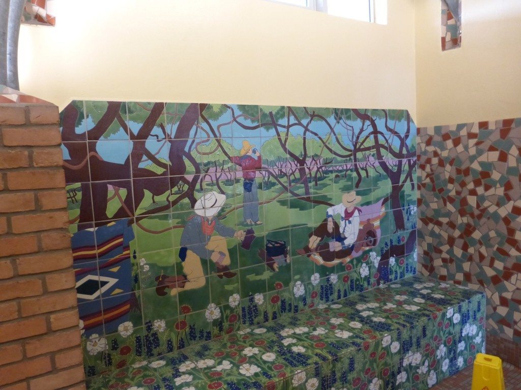 Mosaic at rest area