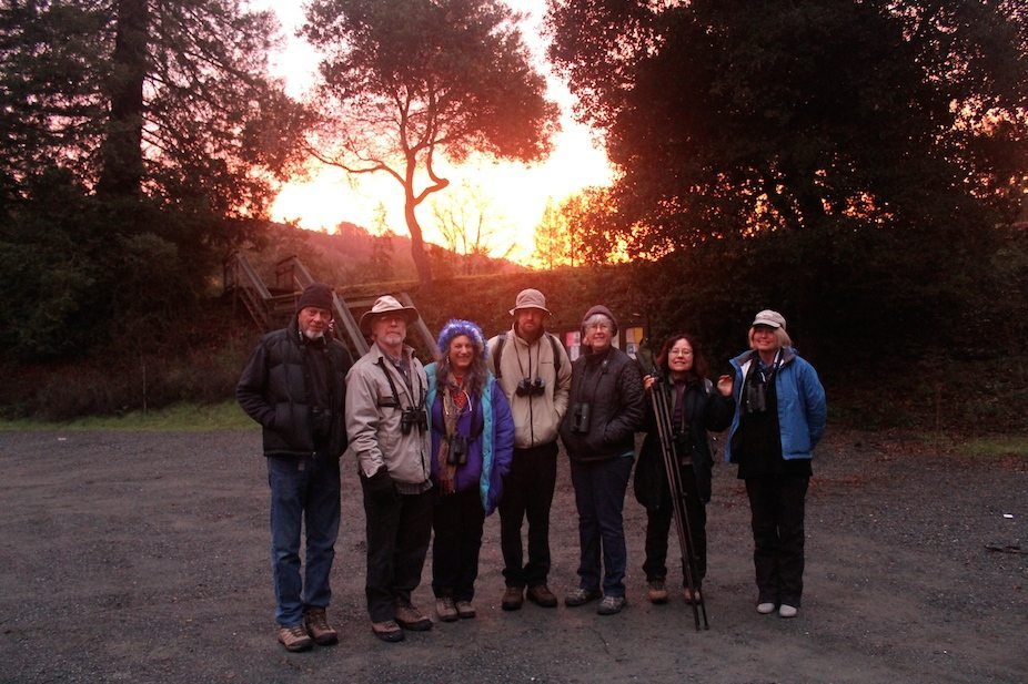 Tilden South team greets the dawn at Lake Anza, by Ilana DeBare