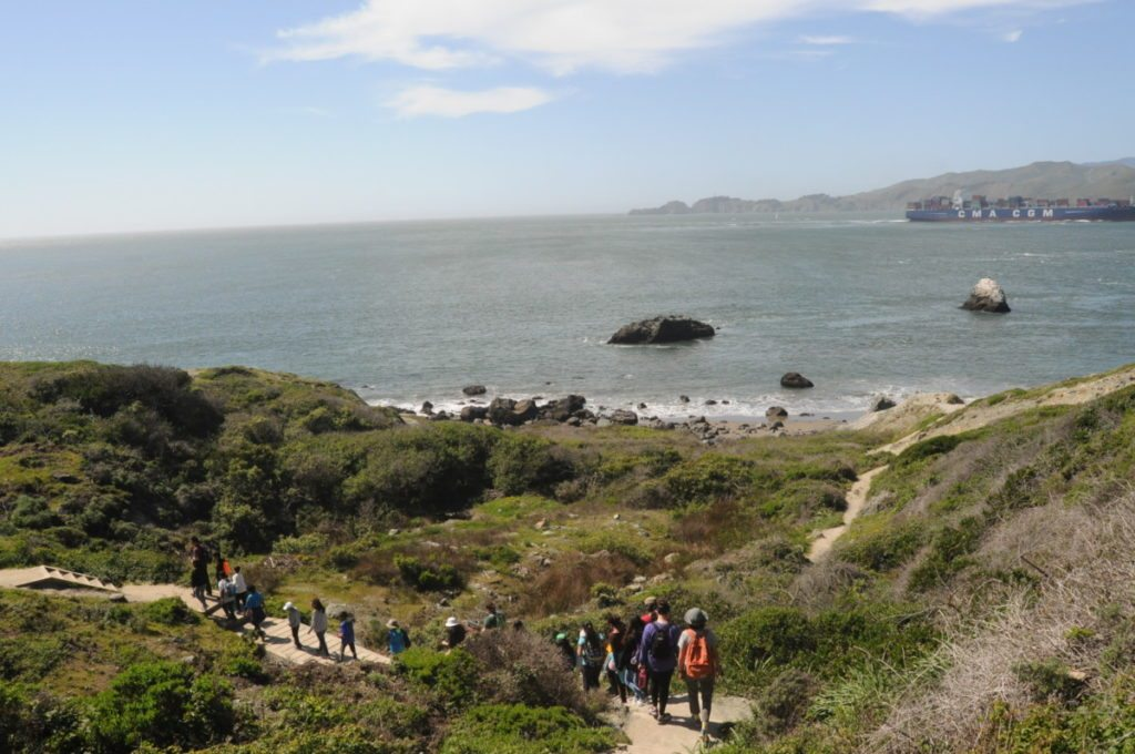 Batteries to Bluffs trail at the Presidio